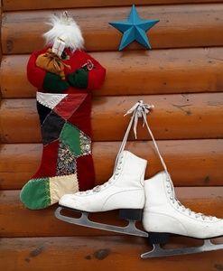 Figure skates Vegan Leather size 10 blades like ne